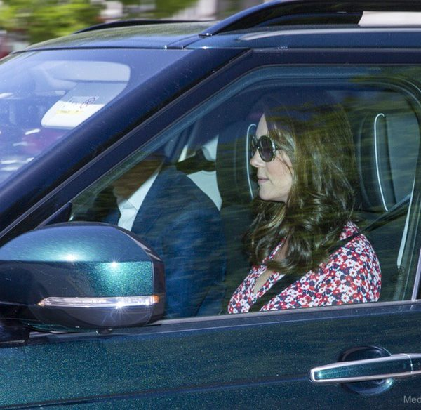 Kate arrives in Windsor for Harry and Meghan's wedding rehearsal