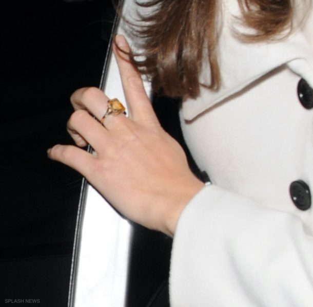 Kate Middleton wearing a yellow ring