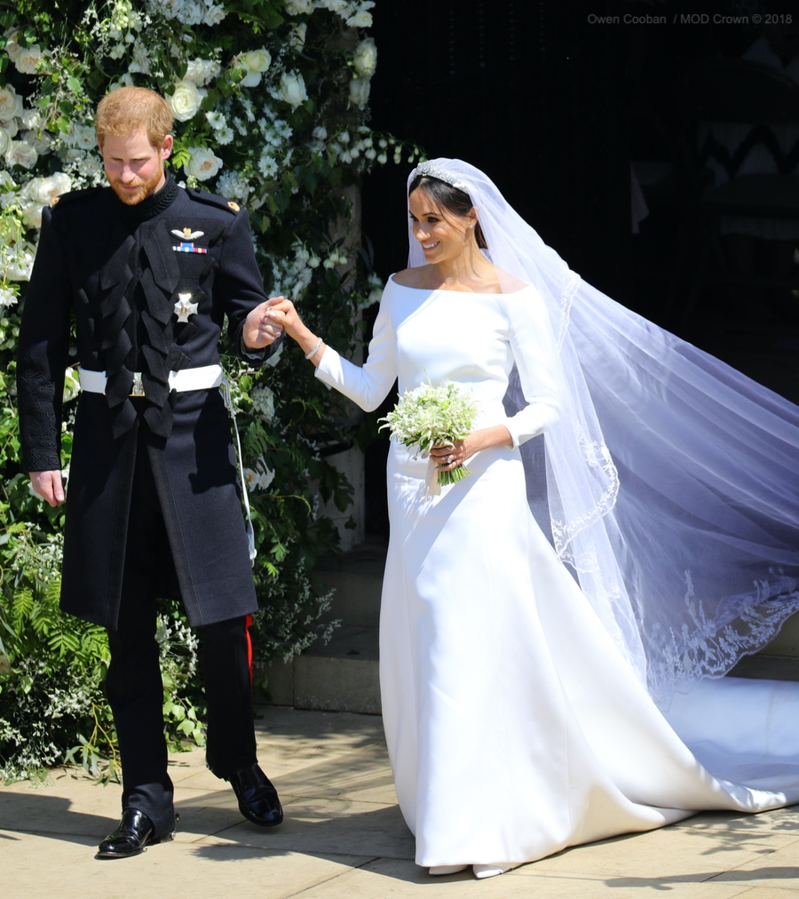 Meghan and Harry on their wedding day