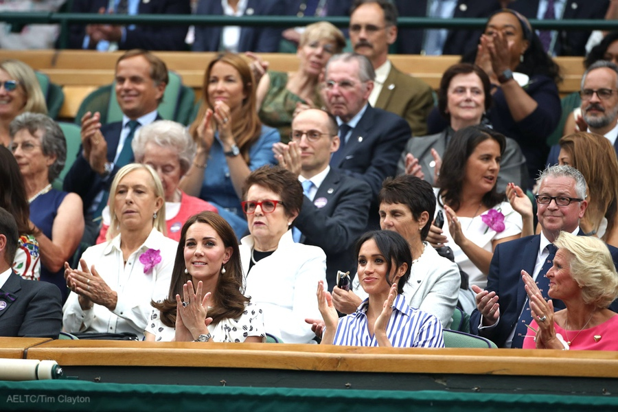 Meghan and Kate at Wimbledon