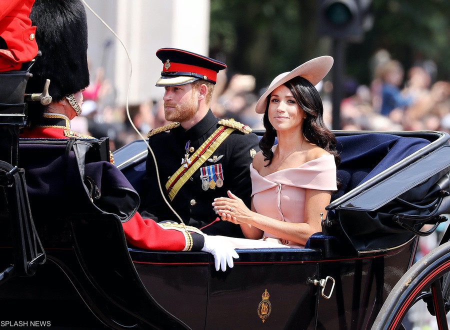 Meghan and Harry at the 2018 Trooping the Colour ceremony