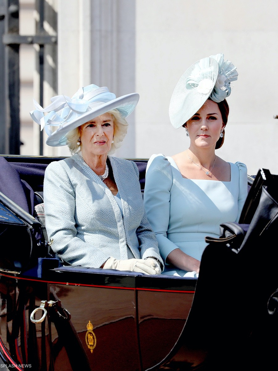 Kate Middleton and Camilla during the 2018 Trooping the Colour Parade