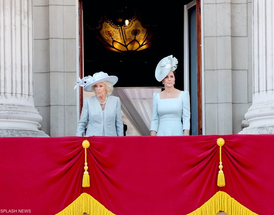 The Royal Family on the balcony for the flypast at Trooping the Colour