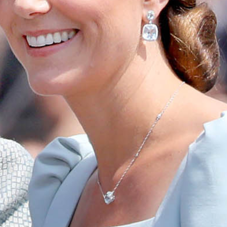 Kate Middleton's blue jewellery at Trooping the Colour 2018
