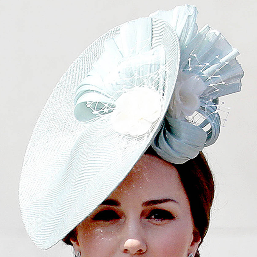 Kate Middleton's blue hat at Trooping the Colour 2018