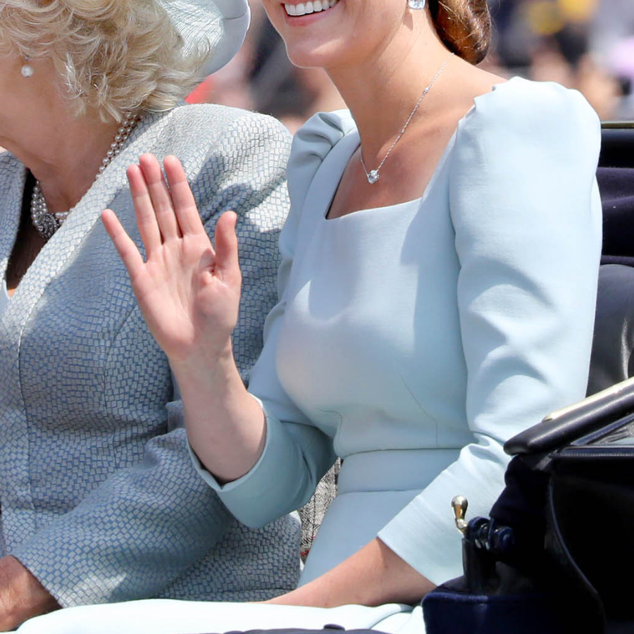 Kate Middleton's blue dress at Trooping the Colour 2018