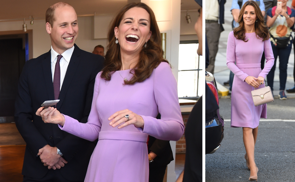 96bcc7301d9 Kate recycles fan favourite purple dress for mental health summit · Kate  Middleton Style Blog