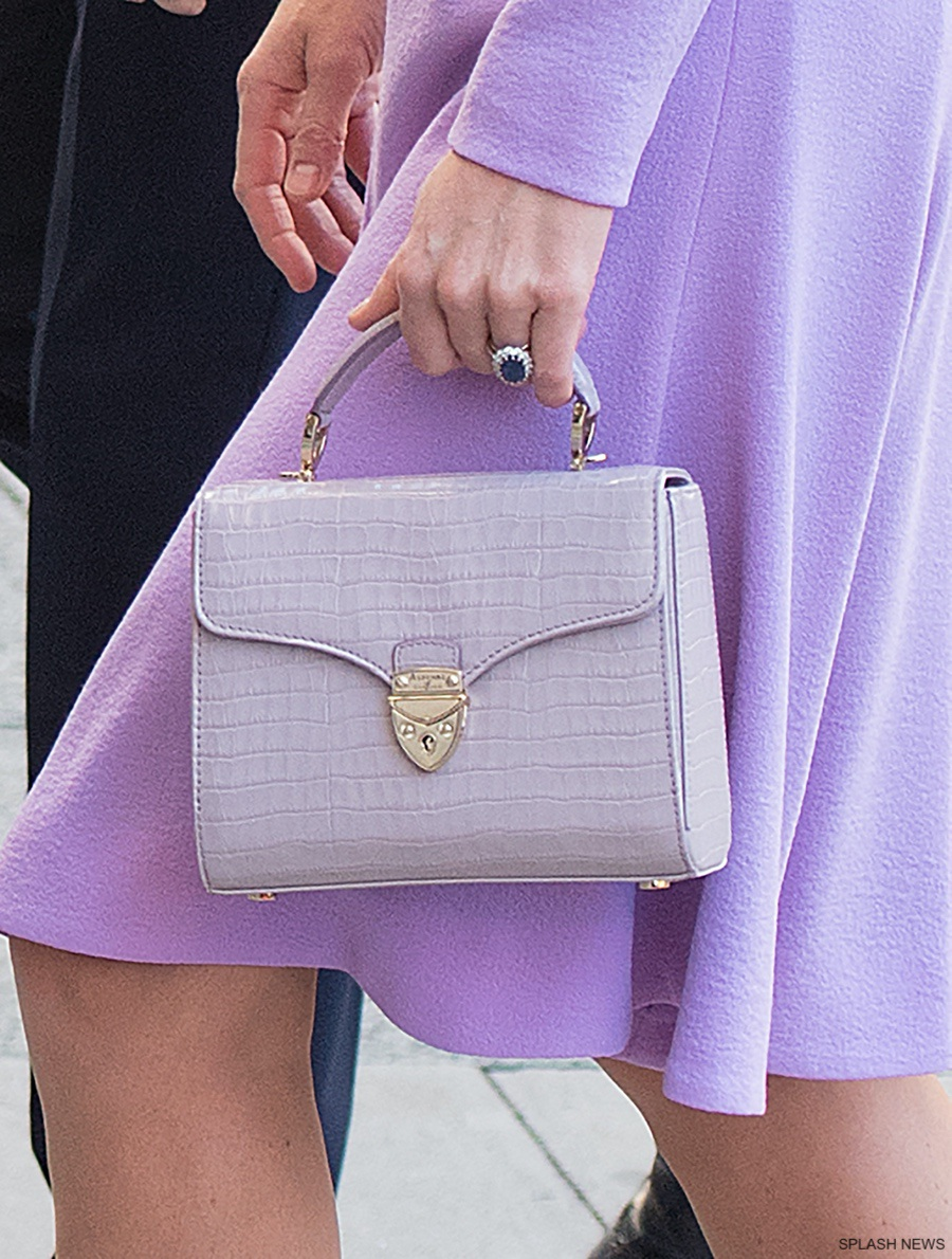 7fbf92a882b Kate carried a new (to us) handbag today. It s by Aspinal of London. It s  the company s Mayfair bag in  soft taupe.