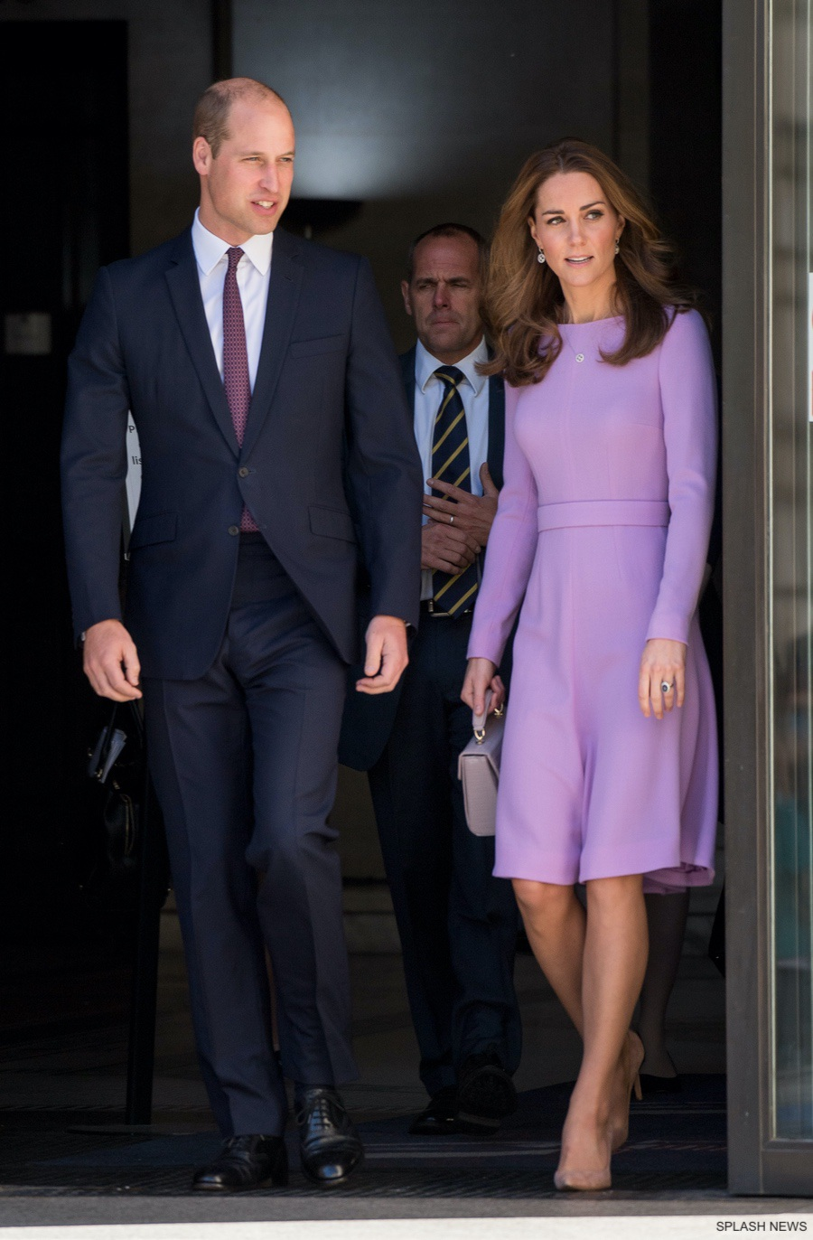 William and Kate leaving the health summit