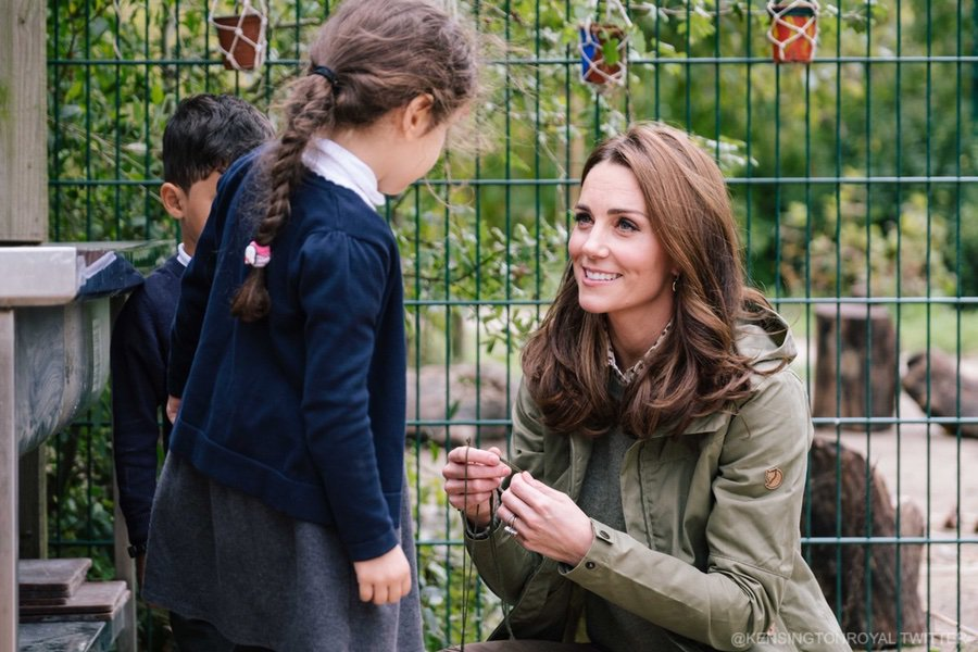 Kate Middleton visiting Sayers Croft in London