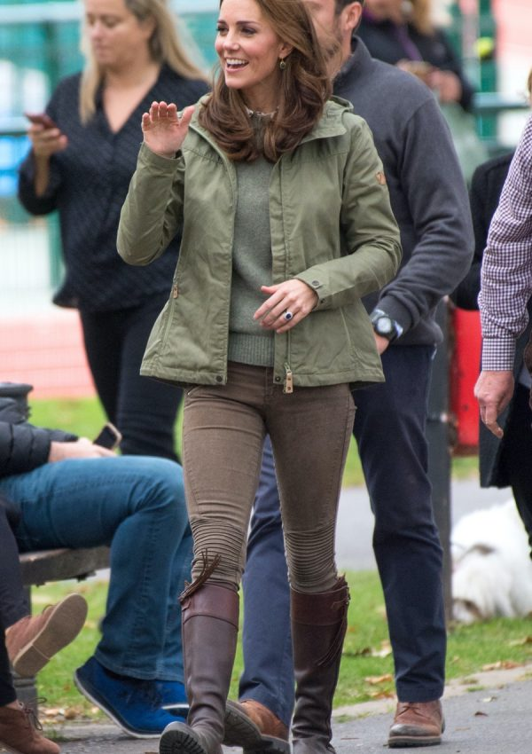 Kate in outdoorsy outfit for Forest School visit