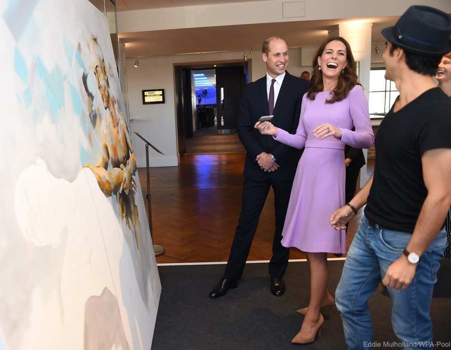 Kate recycles fan favourite purple dress for mental health summit ... 20531903b