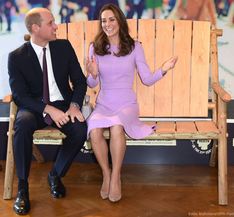 William and Kate on the Zimbabwe friendship bench