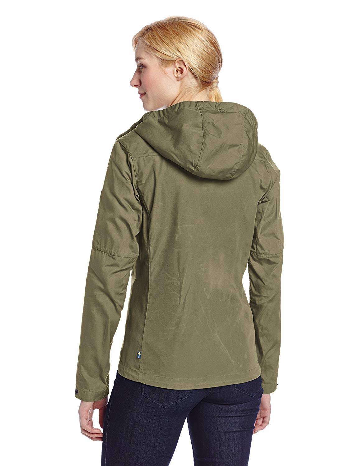 The back of Kate's Fjallraven Stina jacket