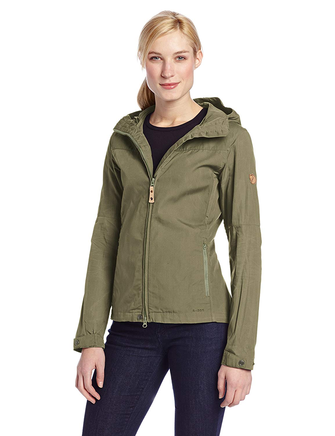 The front of Kate's Fjallraven Stina jacket