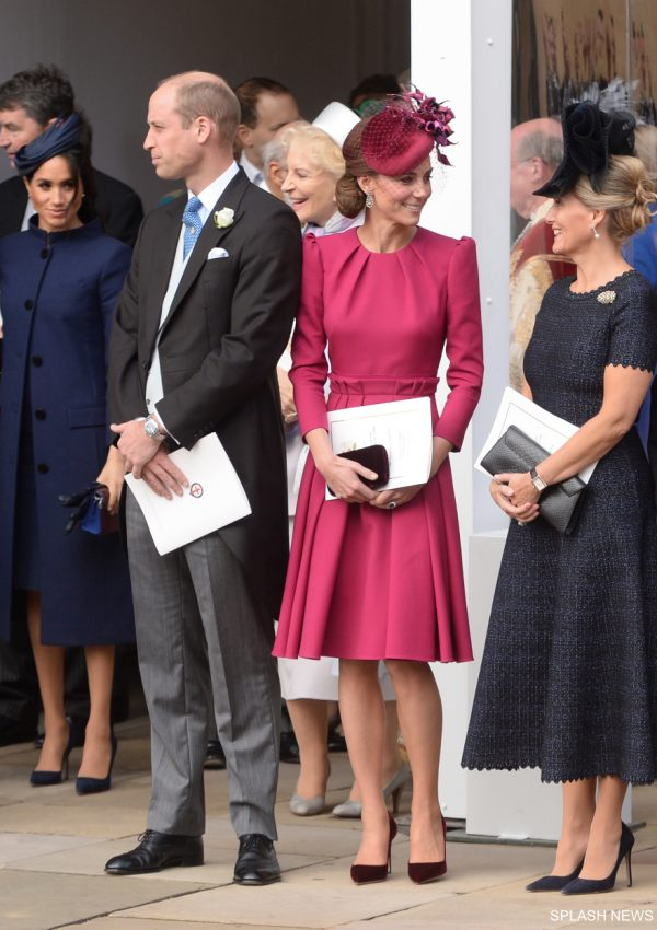 Kate looks pretty in pink at Princess Eugenie's wedding
