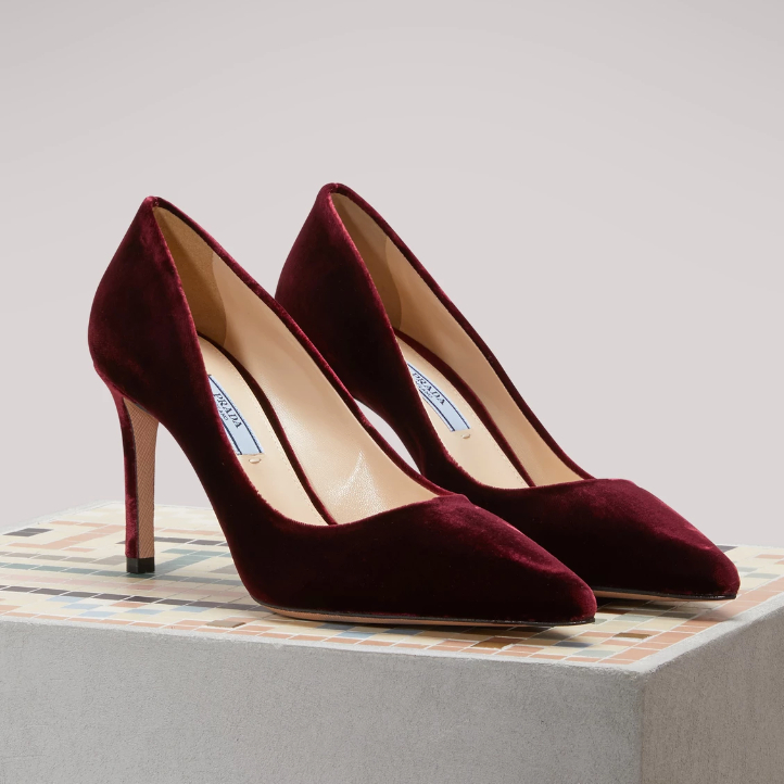 "They feature an elegant pointed toe and a 3.5"" inch heel."