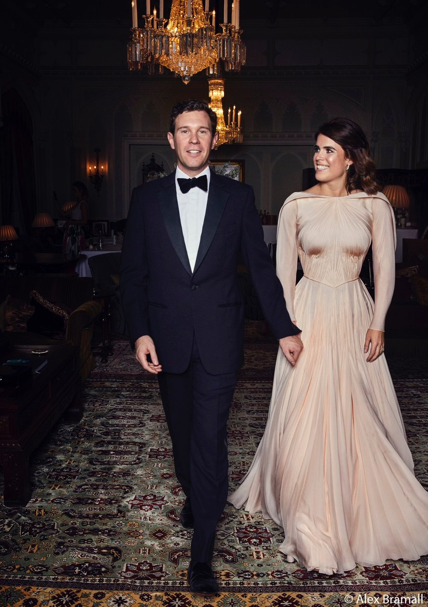 Princess Eugenie's evening reception gown