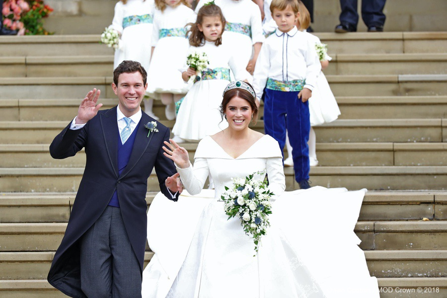 Princess Eugenie in her wedding dress