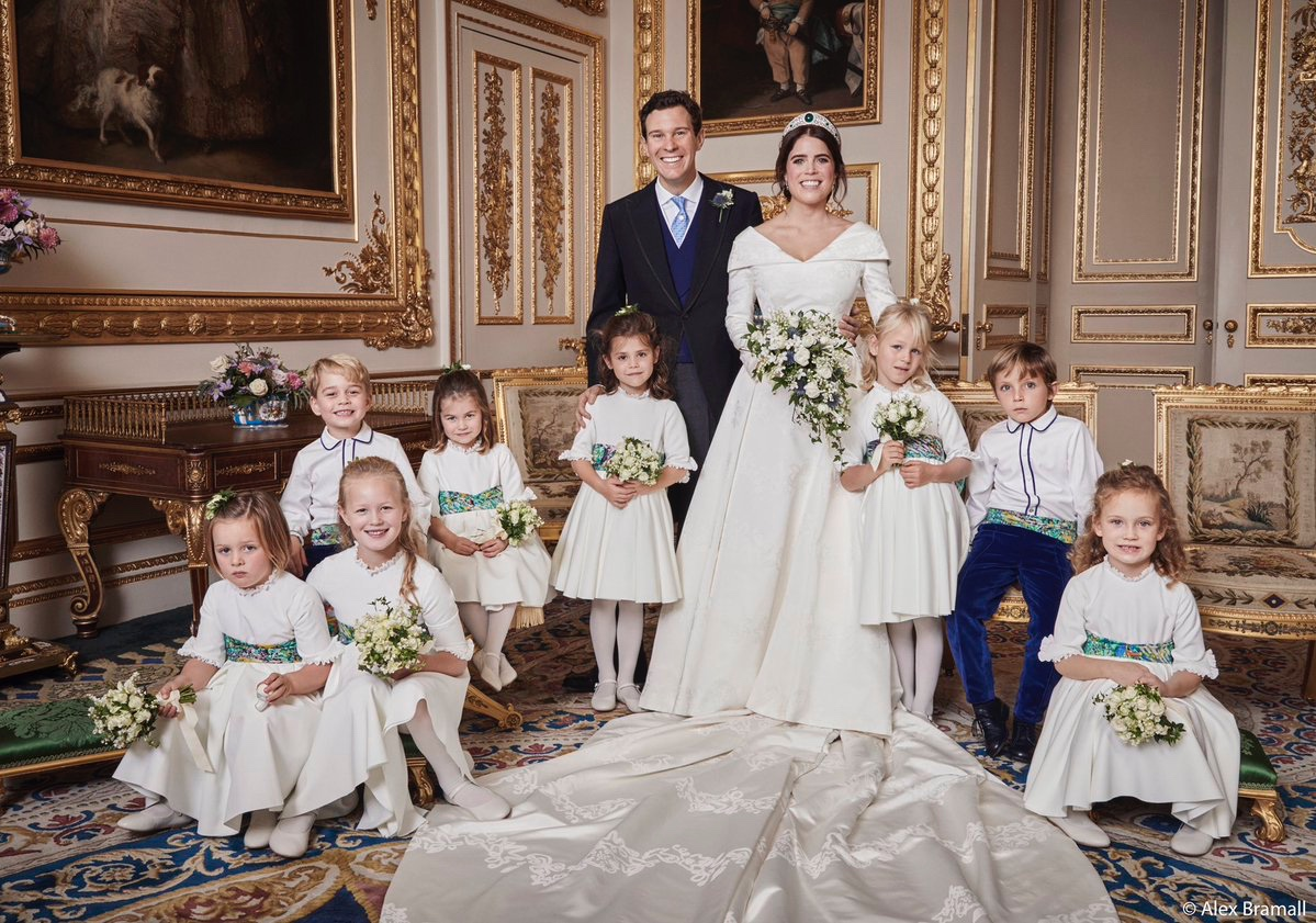 bridesmaids and page boys at Princess Eugenie's wedding
