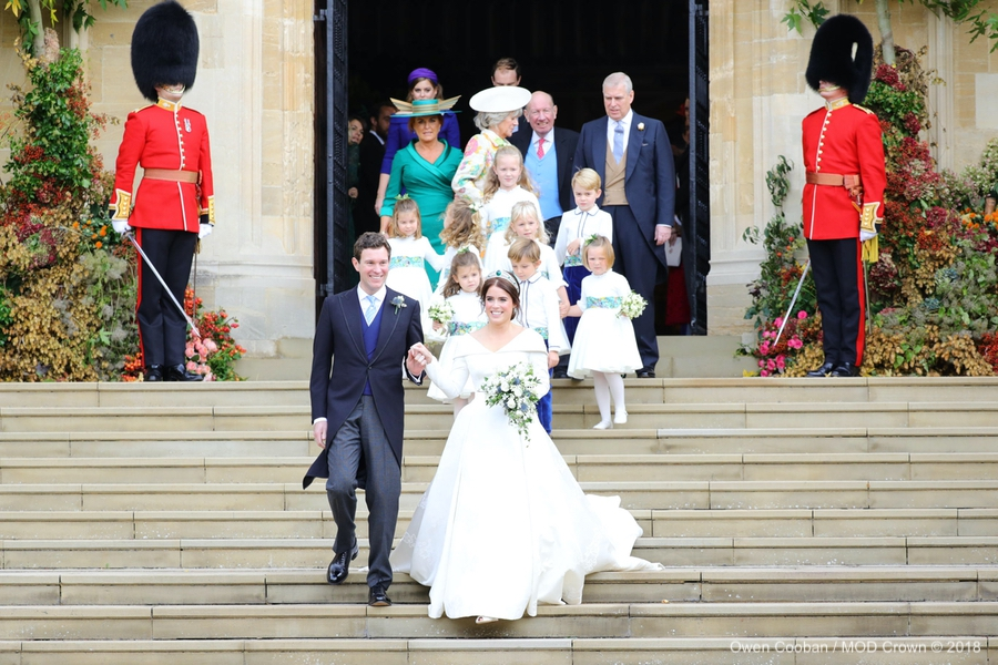 Princess Eugenie Wedding + Bridal Party in Windsor