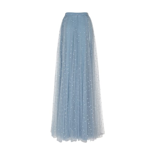 Blue tulle skirt with embellishments by Elie Saab.  From the designer's resort 2019 collection.