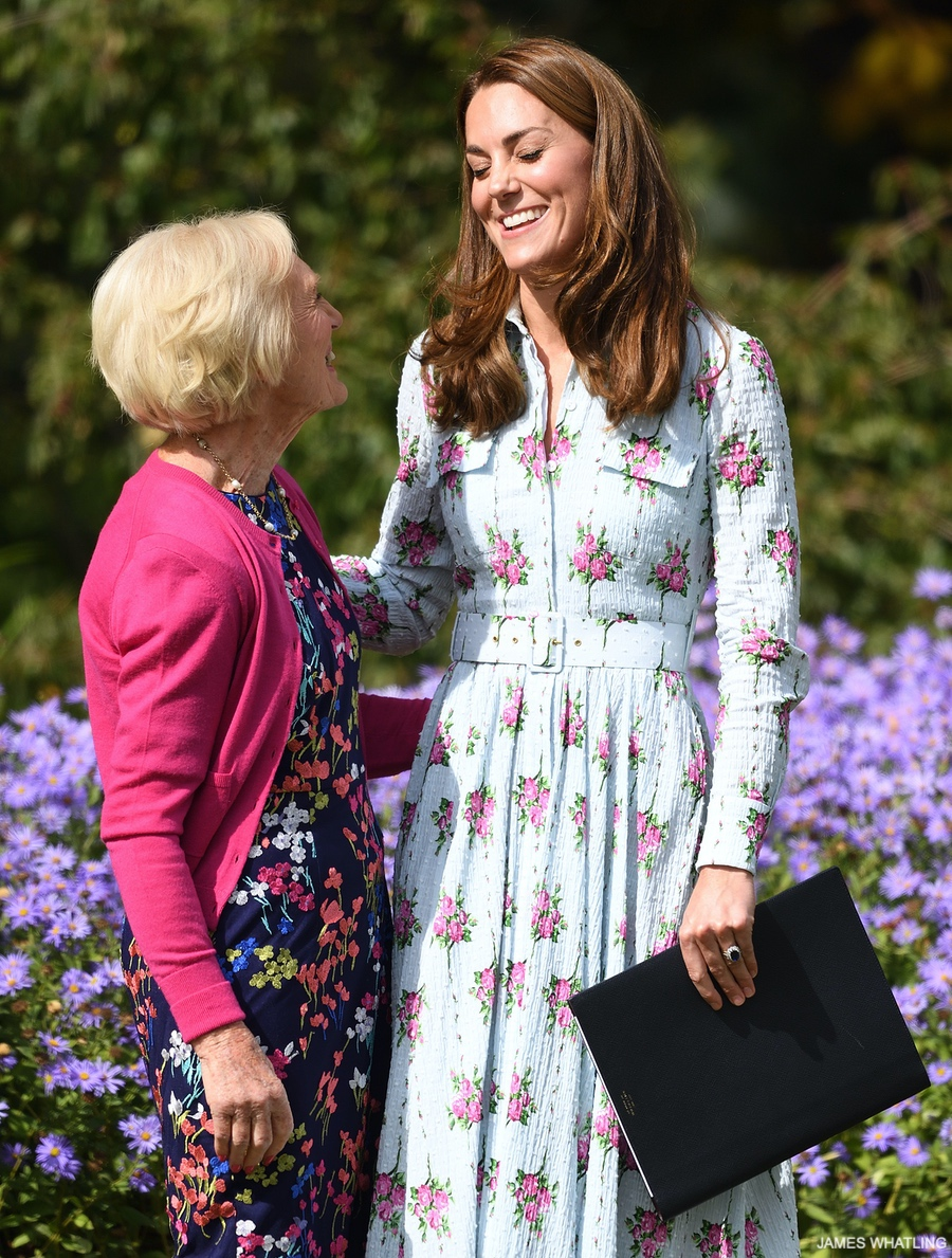 The Duchess of Cambridge, Kate Middleton with Mary Berry at RHS Wisley