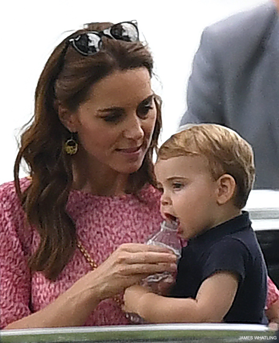 Prince Louis with Kate Middleton at the polo match