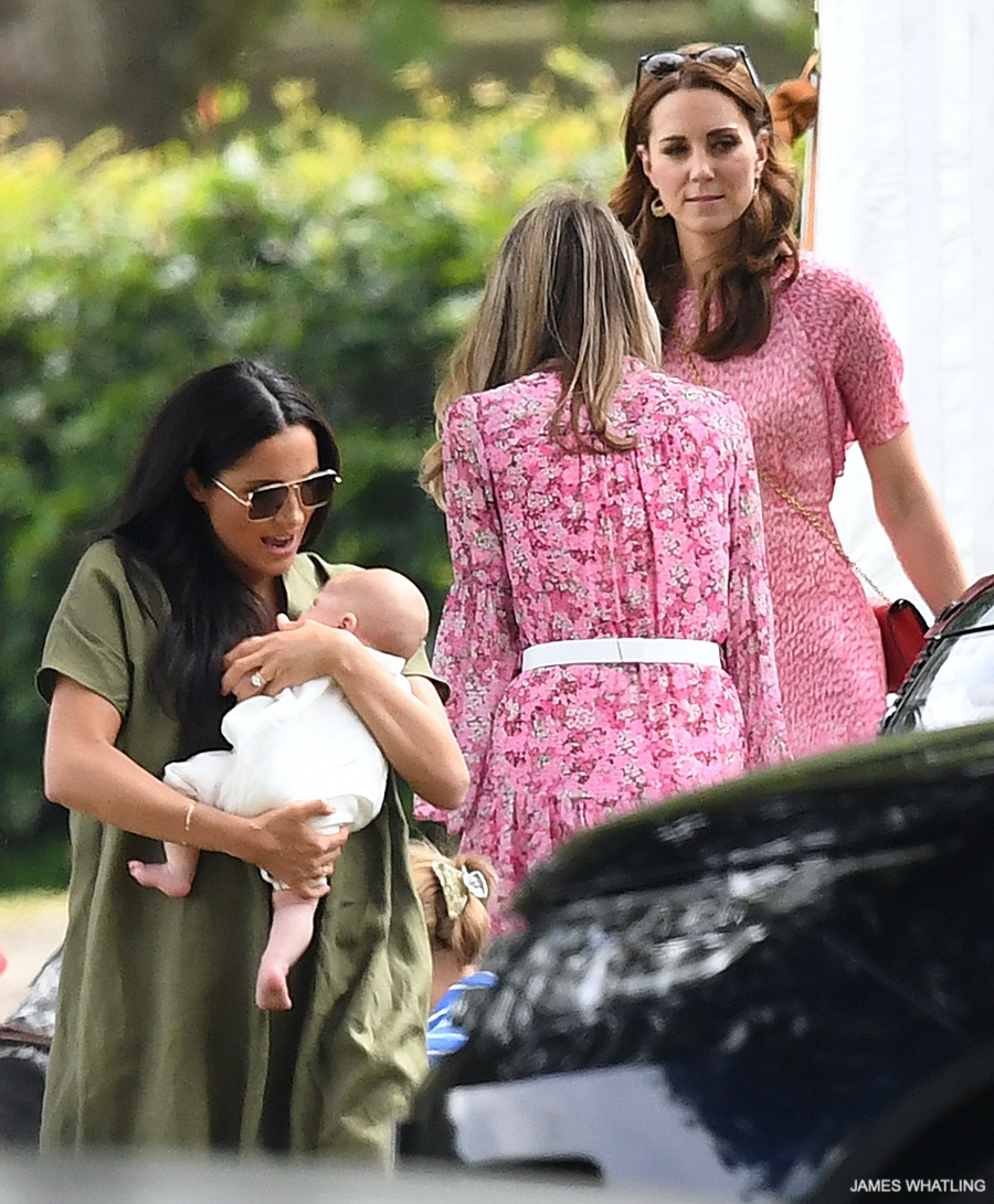 Kate Middleton with Meghan Markle at the charity polo match