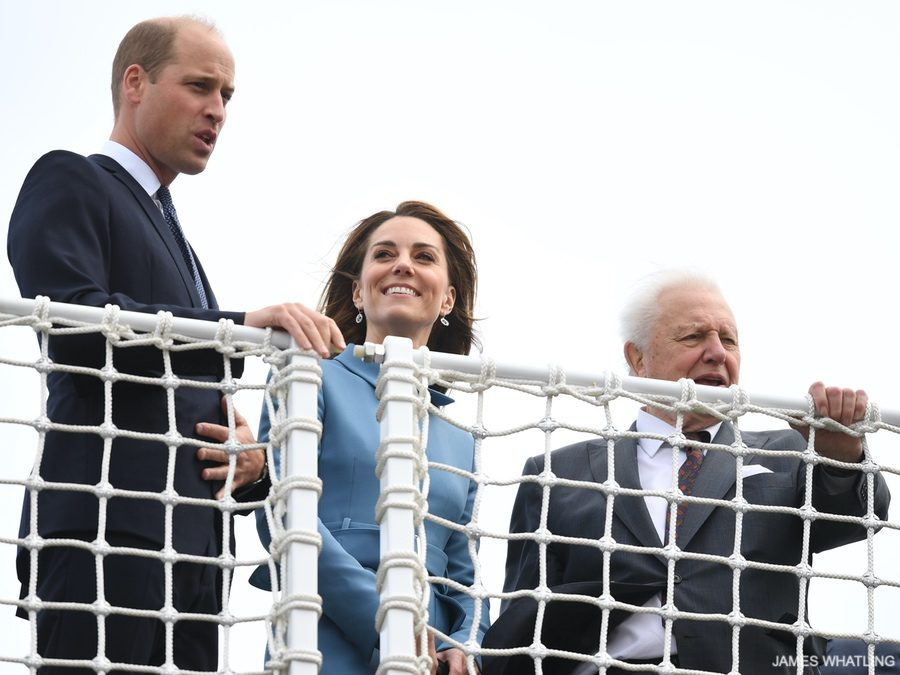 William, Kate and Sir David Attenborough