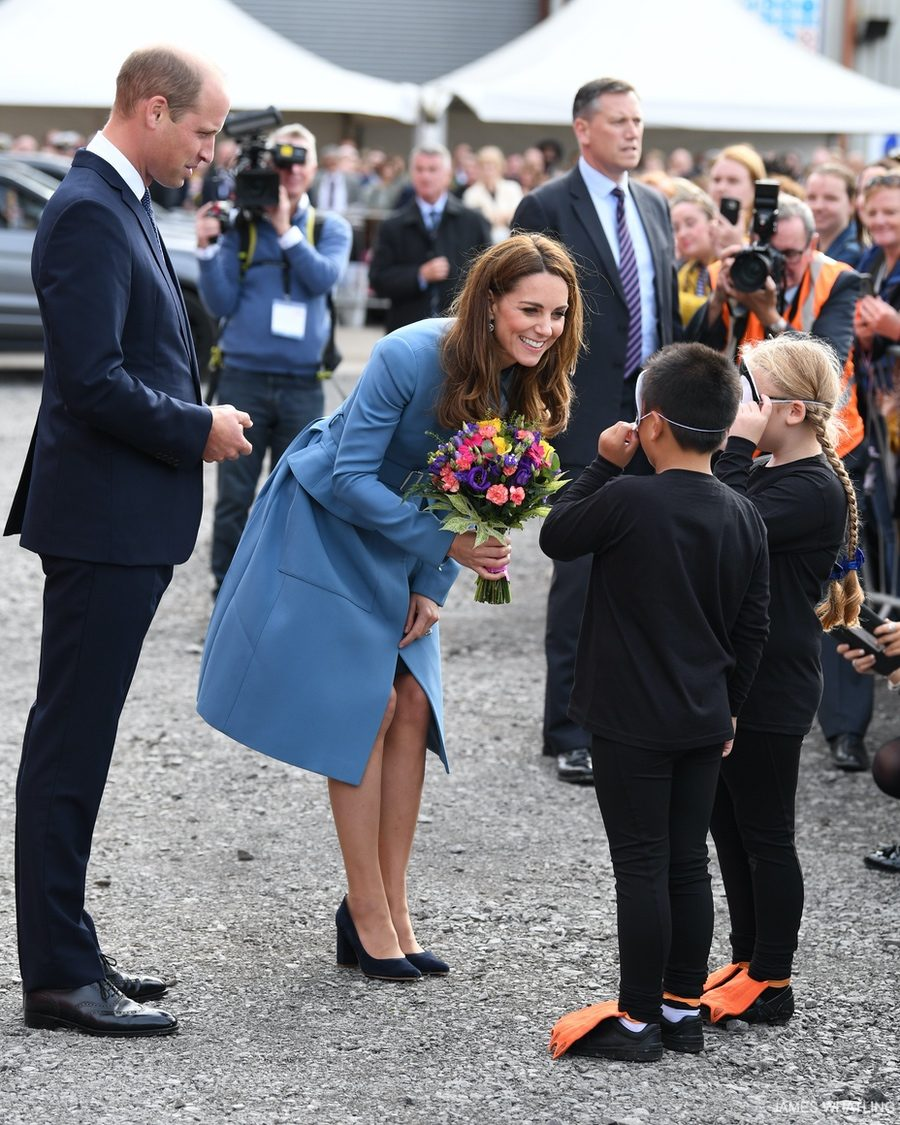 Kate meeting children at the event today