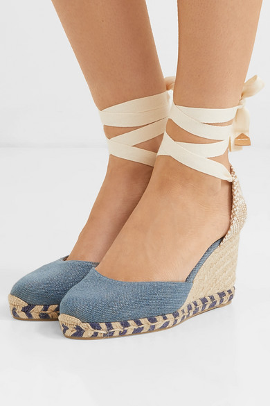 castaner carina wedge in blue