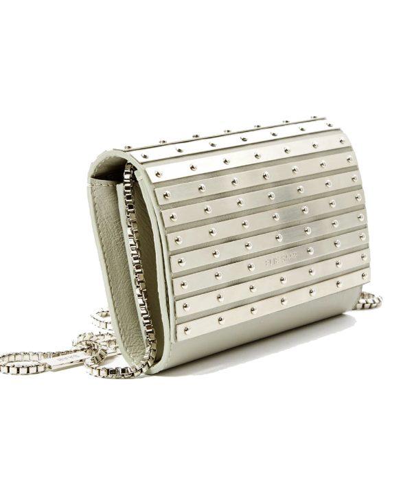 Silver Elie Saab clutch bag