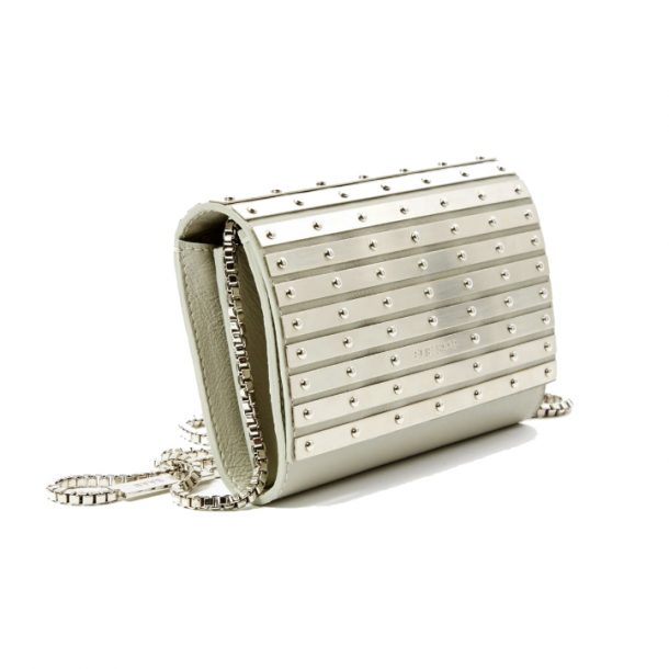Silver Elie Saab clutch bag