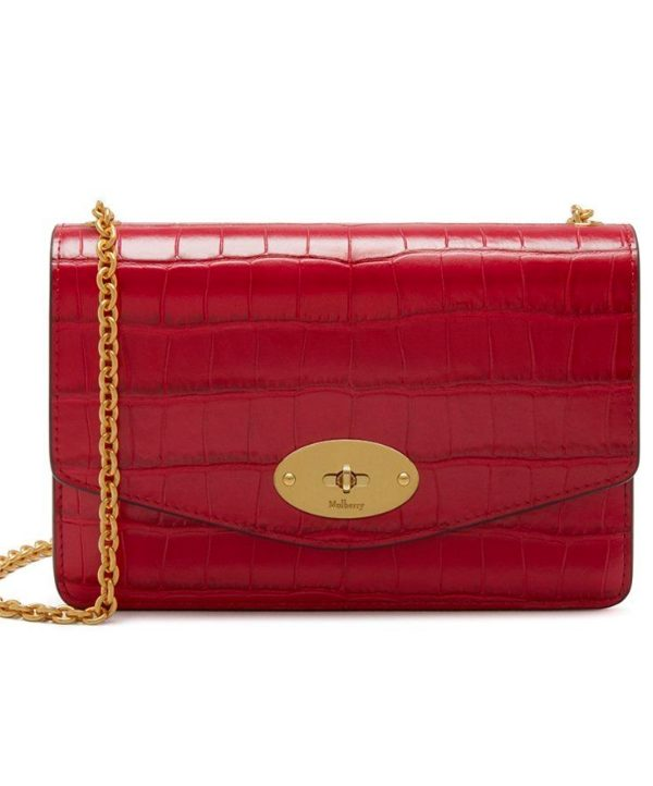 Mulberry Darley bag in red croc