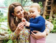 Kate wore a floral summer dress to promote her garden project