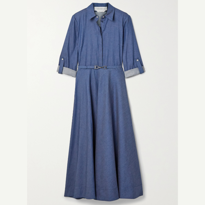 Kate Middleton wearing the Gabriela Hearst Marley Denim Shirt Dress